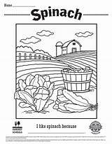Spinach Coloring Sheet Printable Sheets Foodhero Hero Colouring Verduras Hoja Verde Drawings Hojas Colorear Printables Children sketch template