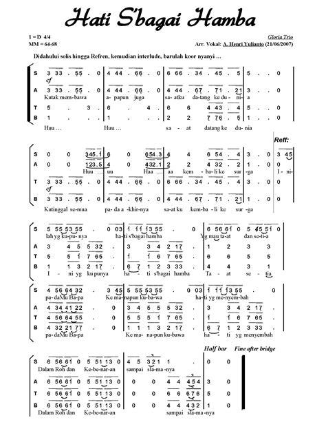 not angka lagu natal lagu paduan suara partitur satb lagu indonesia newhairstylesformen2014 com