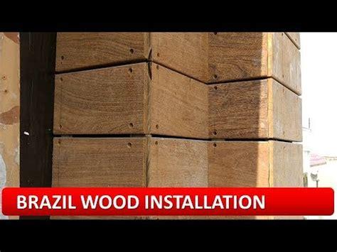 brazil wood panel installation ipe wood elevation