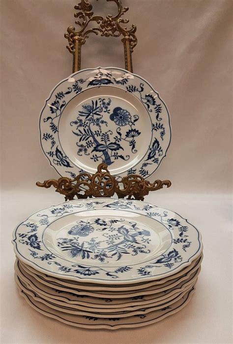 Great customer ratings for service, low price guarantee & free shipping deals! Vintage Blue Onion Blue Danube 10 Dinner Plate Banner   Plate wall decor, Plates, Plates on wall