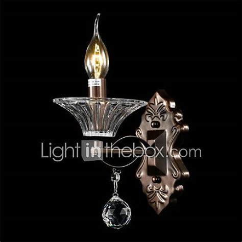 crystal mini style wall sconces candle wall lights