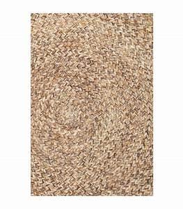 tapis rond tresse en laine et coton beige o120cm With tapis tressé laine