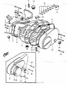 Kawasaki Motorcycle 1980 Oem Parts Diagram For Engine