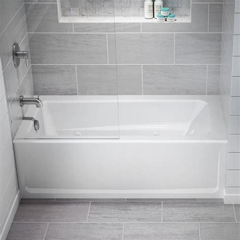 Lowes Tub by Primo 60 In White Acrylic Rectangular Left