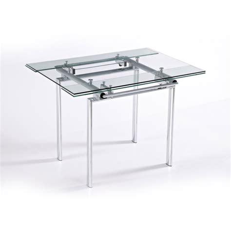 table carree en verre avec rallonge table verre