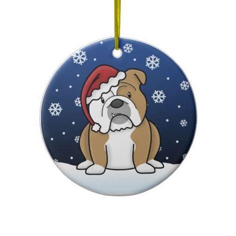 english bulldog christmas ornament images