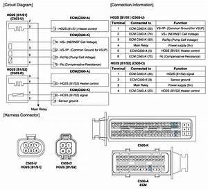 Hyundai Sonata  Heated Oxygen Sensor  Ho2s  Schematic
