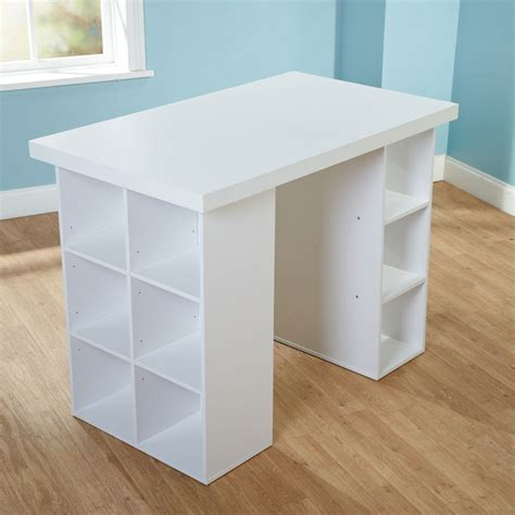 Counter Height Desk by Simple Living White Counter Height Craft Table Overstock