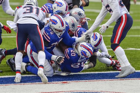 Game story: Cam Newton's late fumble helps Bills hold on ...