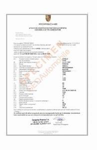 Carte Grise Numero Vin : attestation de conformit nationale porsche france ~ Medecine-chirurgie-esthetiques.com Avis de Voitures