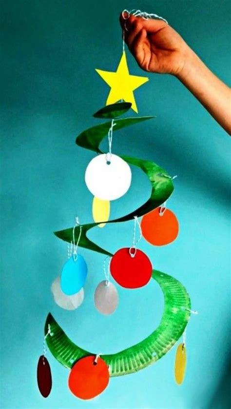 weihnachtliche ideen zum basteln mit pappteller fuer