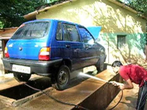 Maruti 800 getting washed at JK Auto Service Station ...