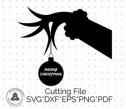 Grinch Svg Clipart Stole Silhouette Christmas Mr