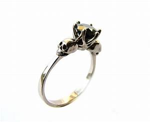 skull engagement ring black diamond white gold by With diamond skull wedding rings