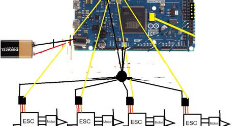 quadcopter design part 3 esc and motor wiring and code