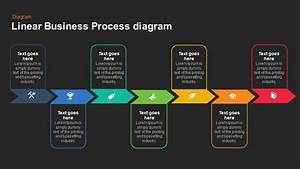 Linear Business Process Diagrams Keynote And Powerpoint