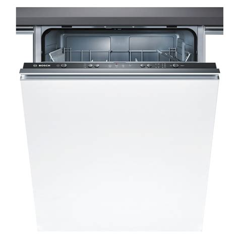 bosch built  cm white  place setting fully integrated dishwasher smvcgb