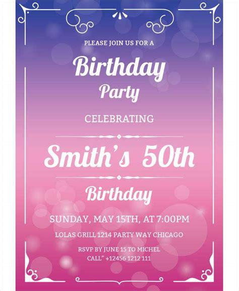 15+ 50th Birthday Party Invitation Designs & Templates
