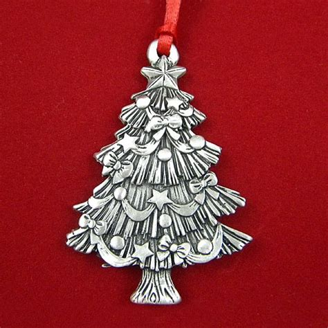 2015 woodbury sculptured christmas tree pewter ornament