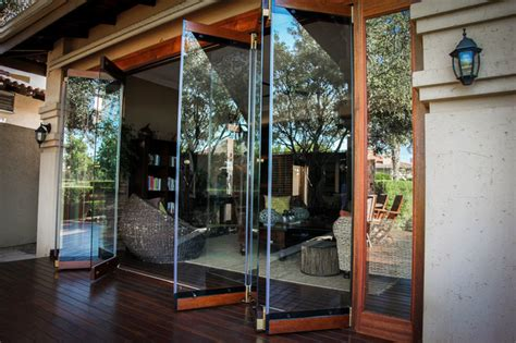 frameless folding doors rustic other by acht