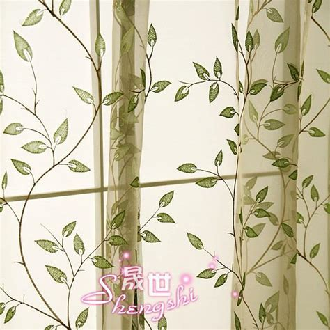 2 of green leaf sheer voile curtain d style custom made ebay