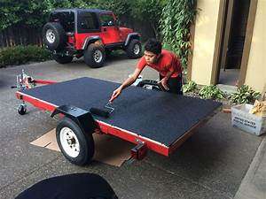 Harbor Freight Trailer With Deck  U0026 Concrete Restore 10x Rust