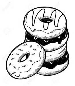 Donut Clip Art Black and White