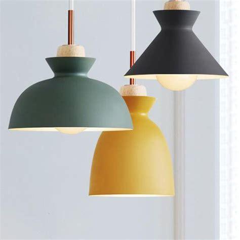moda colorido colgante de madera moderna lamparas diseno
