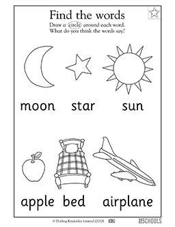 """Kindergarten, Preschool Reading Worksheets: """"Reading"""
