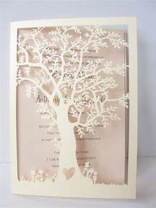 laser cut tree wedding invitation fall wedding by With how much are laser cut wedding invitations