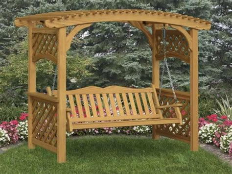 Covered Benches Trellis Bench Garden Arbor With Bench