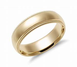 Comfort Fit Wedding Ring In 14k Yellow Gold Plated Over