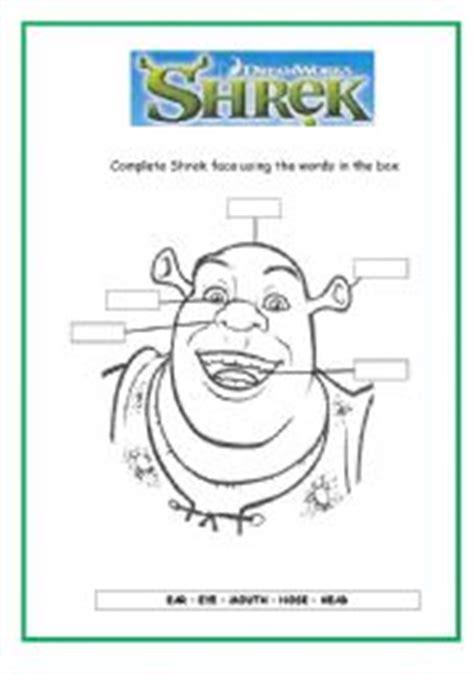 worksheets shrek 180 s