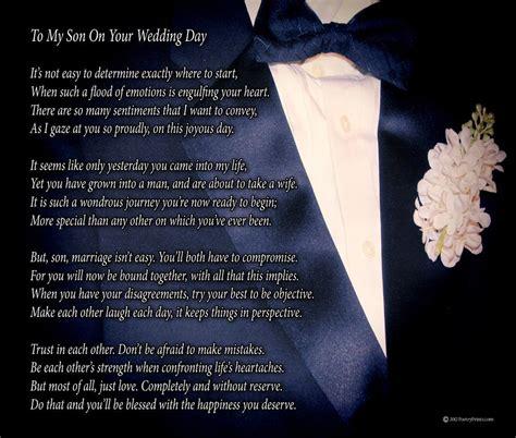 amazoncom   son   wedding day  parent poem print  poems  son