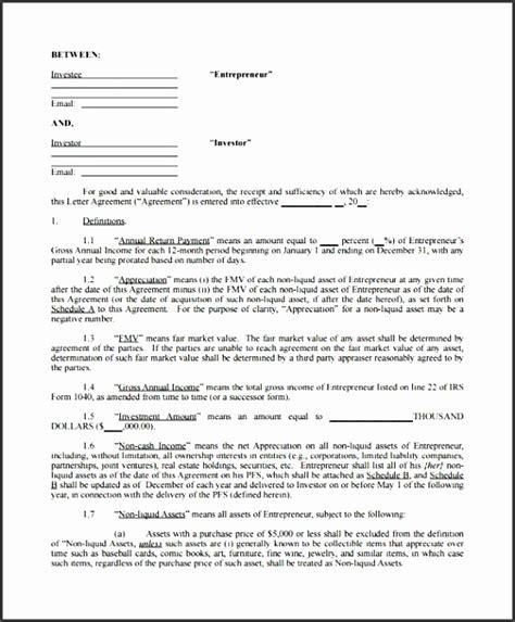 investors agreement sample sampletemplatess