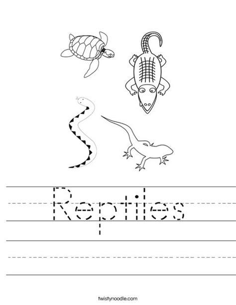 reptiles worksheet twisty noodle