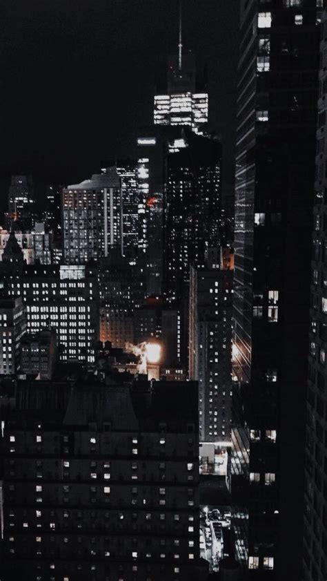 astheticwallpaperiphoneblack city lights wallpaper