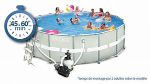 Preparation Terrain Pour Piscine Hors Sol Tubulaire : piscine tubulaire ronde ultra frame intex piscine center net ~ Premium-room.com Idées de Décoration