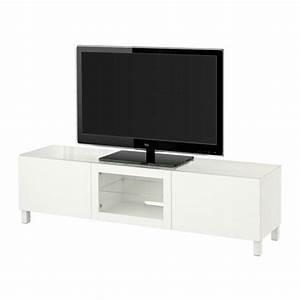 Tv Unterschrank Ikea : best tv b nk med d rrar lappviken vit klarglas 180x40x38 cm l dskena tryck och ppna ikea ~ Watch28wear.com Haus und Dekorationen
