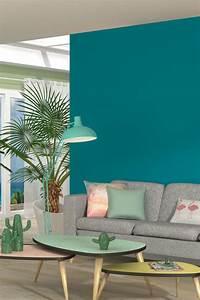 Peinture Salon Tendance : best 25 turquoise wall colors ideas on pinterest ~ Melissatoandfro.com Idées de Décoration
