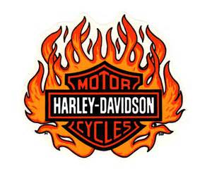 Harley-Davidson Logo with Flames