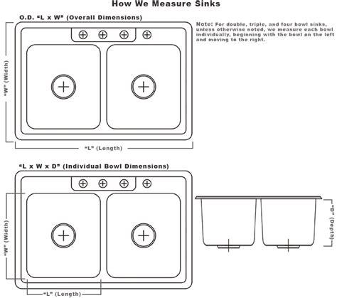 Standard Size Kitchen Sink