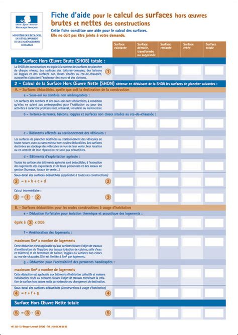 calcul surface utile bureaux fiche d 39 aide pour le calcul de la surface de plancher et de la surface taxable documents