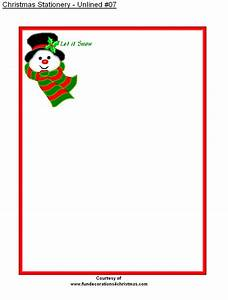 5 best images of free printable christmas stationery With christmas letter stationery printable