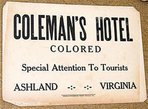 c1930 black americana segregation colored hotel sign item