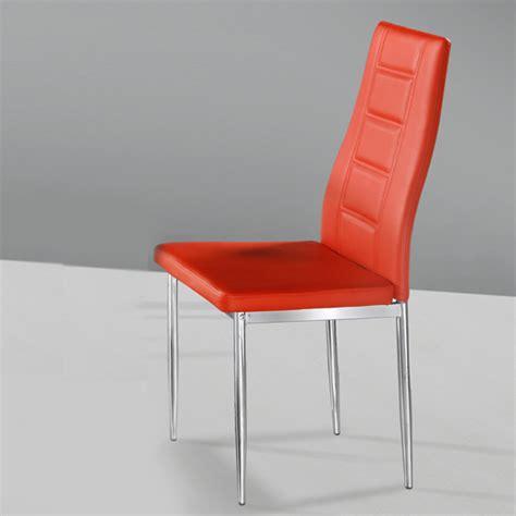 orange leather chair mid century dining chairs orange