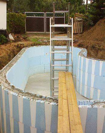 pool untergrund styrodur pool untergrund styropor schwimmbad und saunen