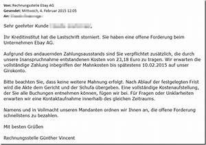Rechnung Frist : trojaner warnung e mail von rechnungsstelle ebay ag sie haben eine offene forderung mimikama ~ Themetempest.com Abrechnung