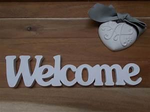 Lettre Decorative A Poser : mot d coratif en bois welcome plaque bois bienvenue ~ Dailycaller-alerts.com Idées de Décoration