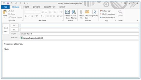 vba guide  sending excel attachments  outlook
